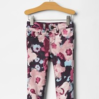Gap Baby Watercolor Floral Skinny Jeans
