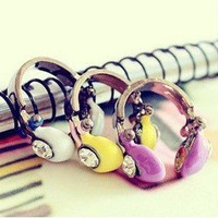 PURPLE Retro Headphones Adjustable Ring    Absolutely adorable and ret | christinepurr - Jewelry on ArtFire