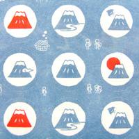 Mount Fuji Stickers Japanese Mountain (S187) Chiygami Paper Stickers