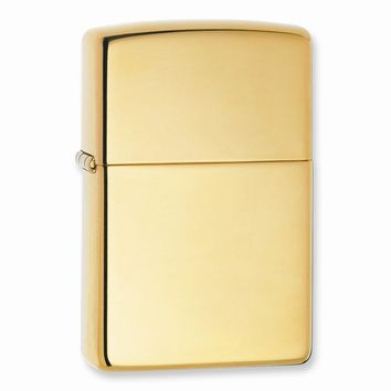 Zippo Armor High Polish Brass Lighter - Engravable Personalized Gift Item