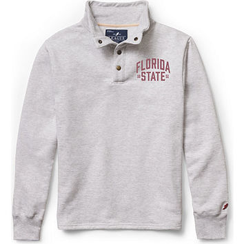 Florida State University Fleeve Snap Button Pullover Sweatshirt | Florida State University