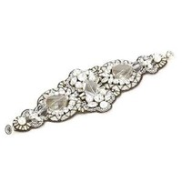 "Ranjana Khan ""Vintage Bride"" Metallic Embroidered Cuff Bracelet: Jewelry: Amazon.com"