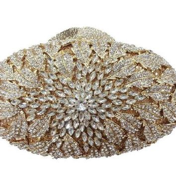 Oval Shape Crystal Evening/Clutch Bags