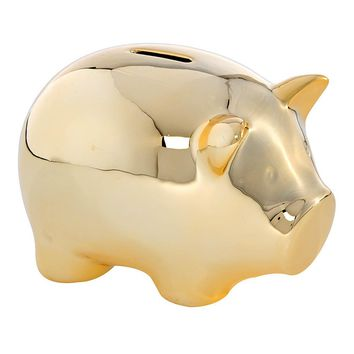 Gold Piggy Money Bank