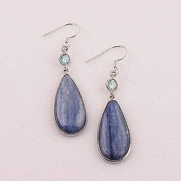 Kyanite & Blue Topaz Sterling Silver Earrings