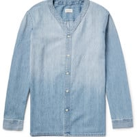 Club Monaco - Indigo-Washed Cotton-Chambray Overshirt