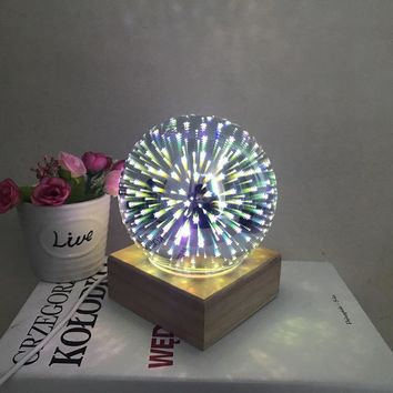 Rechargeable Colorful Magic Crystal Ball Lamp With Base