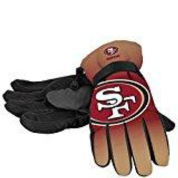 San Francisco 49ers Official NFL Gradient Big Logo Insulated Gloves