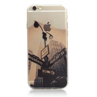 New York City West 34th Street Nature iPhone 6s 6 Plus Soft Clear Case