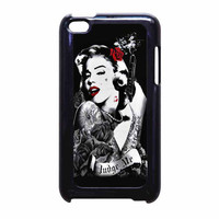 Marilyn Monroe Tattooed Flower With Pistol Gun iPod Touch 4th Generation Case