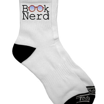 Book Nerd Adult Short Socks