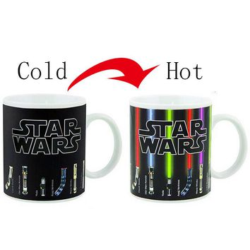 Star Wars Lightsaber Heat Reveal Mug Color Change Coffee Cup