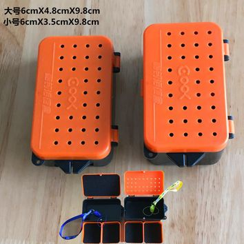 High Quality Breathable Plastic Fishing Live Bait Storage Box Earthworm Bloodworms Bait Container Box Fishing Accessories Free