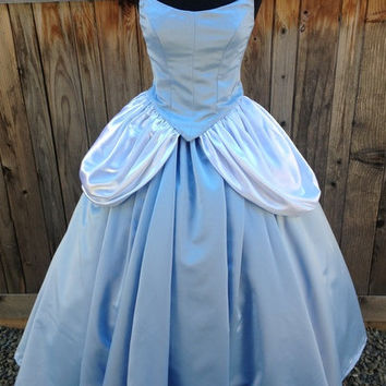 Cinderella O Classic Style Storybook Gown with Wedge Sleeves Dress Custom Made
