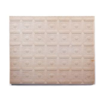"KESS Original ""Palace Ceiling Tiles"" White Abstract Birchwood Wall Art"