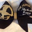 The hunger games hair bow cheer bow