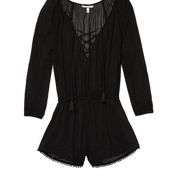 Lace-up Cover-up Romper - Victoria's Secret