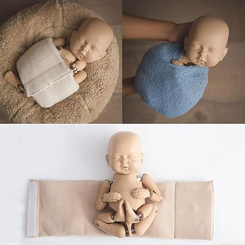 Newborn Photography Wraps Studio Photo Accessories Baby Shaped Wrap Cloth Binder Auxiliary Props Adjustable Posing Belt