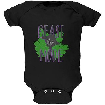 Beast Mode Cute Black Panther Cub Soft Baby One Piece