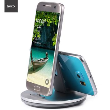 HOCO CW1 Dock Charger Micro USB Mobile Phone Dock Station Charging Portable Desktop Holder for Android smartphone