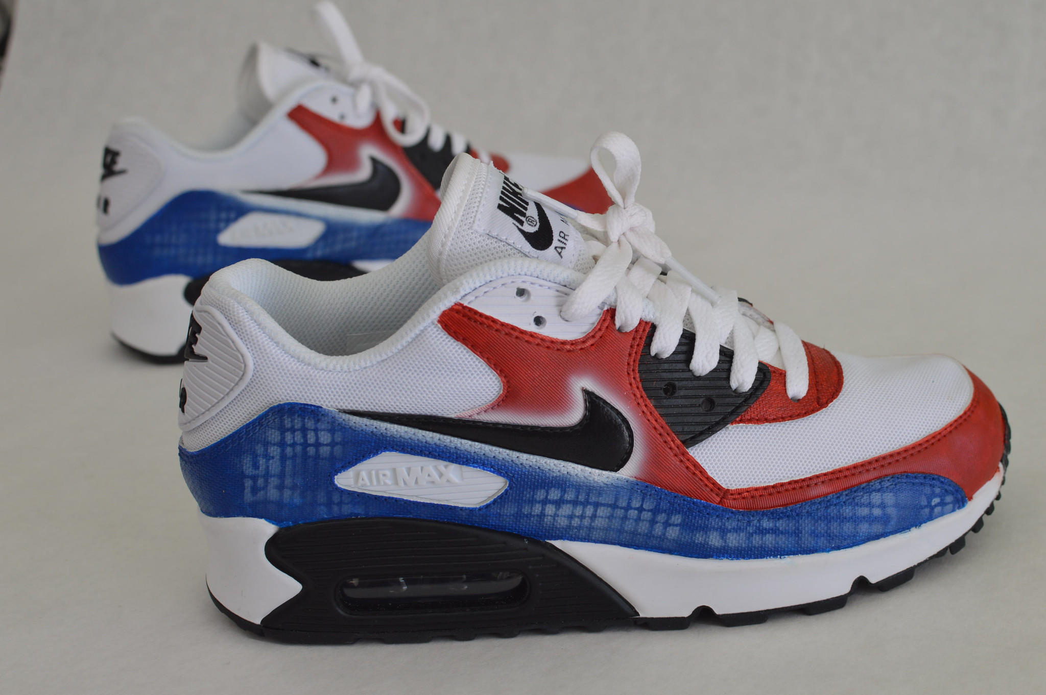 Custom Hand Painted Nike Air Max 90 from bstreetshoes.com 8782c7af0a