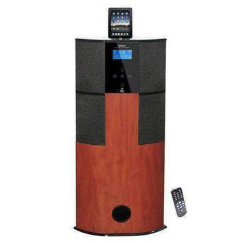 600 Watt Digital 2.1 Channel Home Theater Tower w/ Docking Station for iPod/iPhone/iPad (Cherry Wood Color)