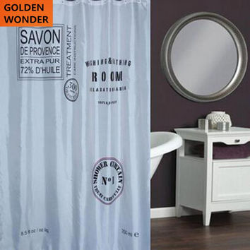 Hot Sale Shower Curtain Bathroom Curtain 180W 200H Fashion Modern Water Proof Blind Cortina Polyester Home Style Simple Design
