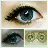 GEO Nudy Quarter Golden Blue Circle Lenses Colored Contacts Cosmetic Color Circle Lens