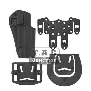 Tactical CQC Serpa Quick Right Hand Paddle Belt Loop Pistol Gun Holster w/ STRIKE MOLLE Platform for Colt 1911 M1911