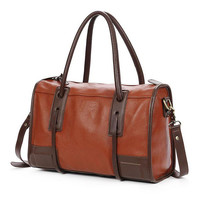 Retro Simple Brown Commuter Travel Handbag