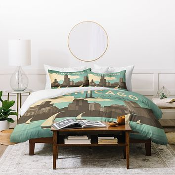 Anderson Design Group Chicago Duvet Cover