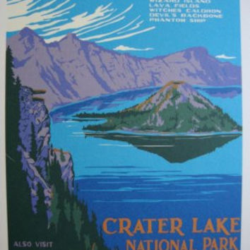 Wpa Crater Lake Poster 27x36 24x36