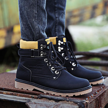 Mens High Top Boots