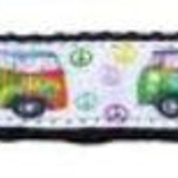 CUPUPHA Peace Bus Ribbon Dog Collars 1 wide 4ft Leash