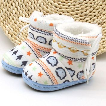 New!  Furry, Winter Baby Boots. Size 7 To 12 Months