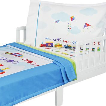Toy Trains - Toddler Bedding Set