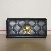 Versace Women Fashion Leather Purse Wallet