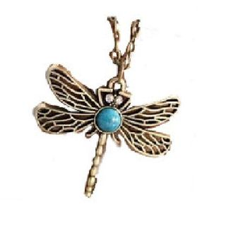 Hollow Dragonfly Pendants Necklaces For Women