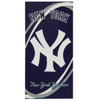 New York Yankees - Logo Swoosh Velour Beach Towel