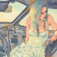 In a Car Art Print by Hector Trunnec | Society6
