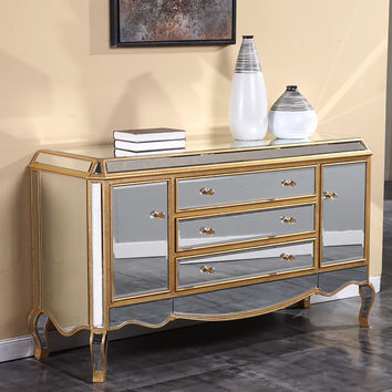 Elegant Lighting Camille Silver and Clear Buffet/Dresser [MF3-1003SC]