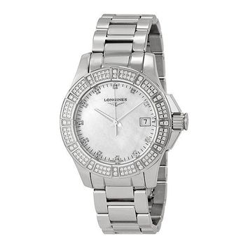 Longines Conquest Mother of Pearl Dial Stainless Steel Ladies Watch L32800876