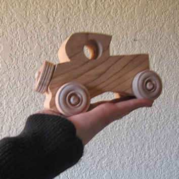 Vintage Wooden Car. Push Toy.