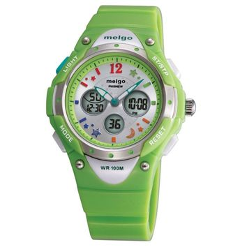 PASNEW PSE-2001AD Wateproof Student Boys Girls Dual Time Display LED Digital Analog Sports Wrist Watch with Date /Alarm /Stopwatch /EL