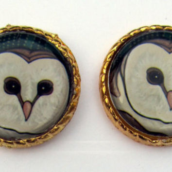Owl Earring Jewellery Jewelry Bird Stud Quirky by TheDorothyDays