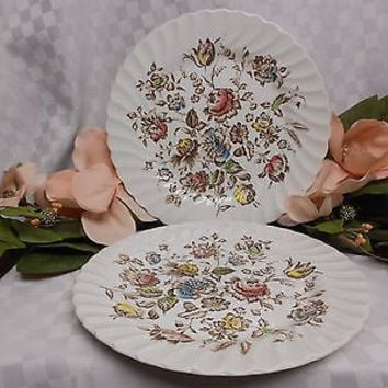 Johnson Brothers, England Ironstone Staffordshire Bouquet  2 dinner plates
