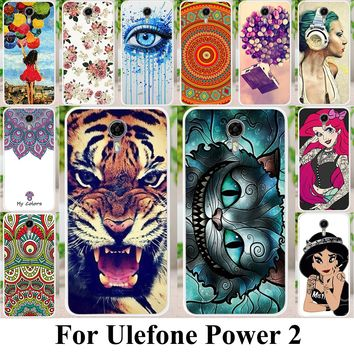 AKABEILA Soft Silicon Phone Cases For Ulefone Power 2 5.5 inch Cover Hood Back Bag Housing Shield Fundas For Ulefone Power 2