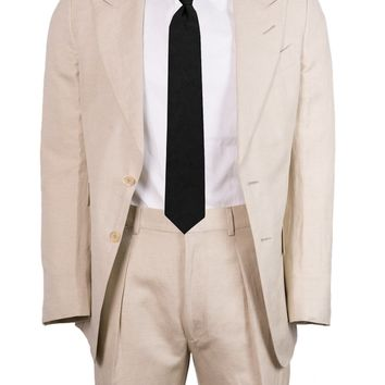 Tom Ford Natural Silk Blend Two Piece Peak Lapel Suit