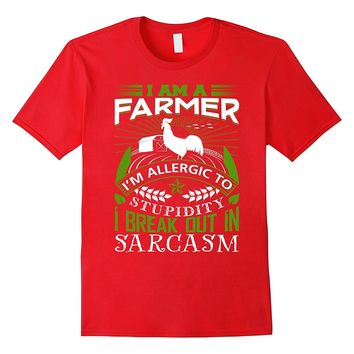 Funny Farming T-shirt for Guy. Birthday Gifts for Farmers