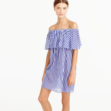 Off-The-Shoulder Bold Striped Dress : Women's Dresses | J.Crew